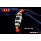 鑲蝕瑪瑙天珠 (2)  400 AD