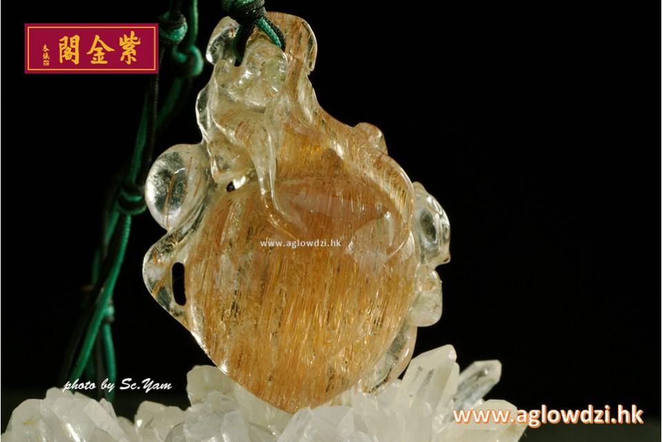 序號:1278  53mm 玫瑰金髮晶
