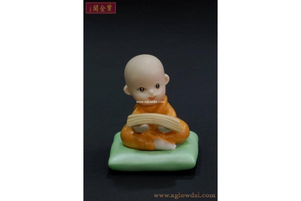 序號:319  陶瓷小和尚公仔