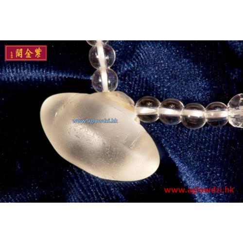 序號:1251  戰國子彈水晶配白水晶手串