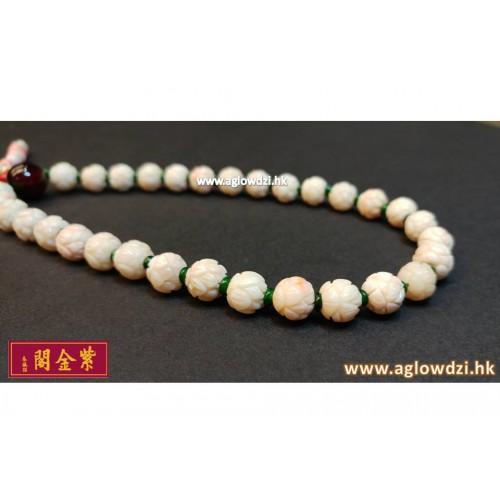序號:1086  白珊瑚手提念珠