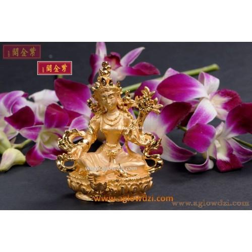 序號:1038  綠度母佛像