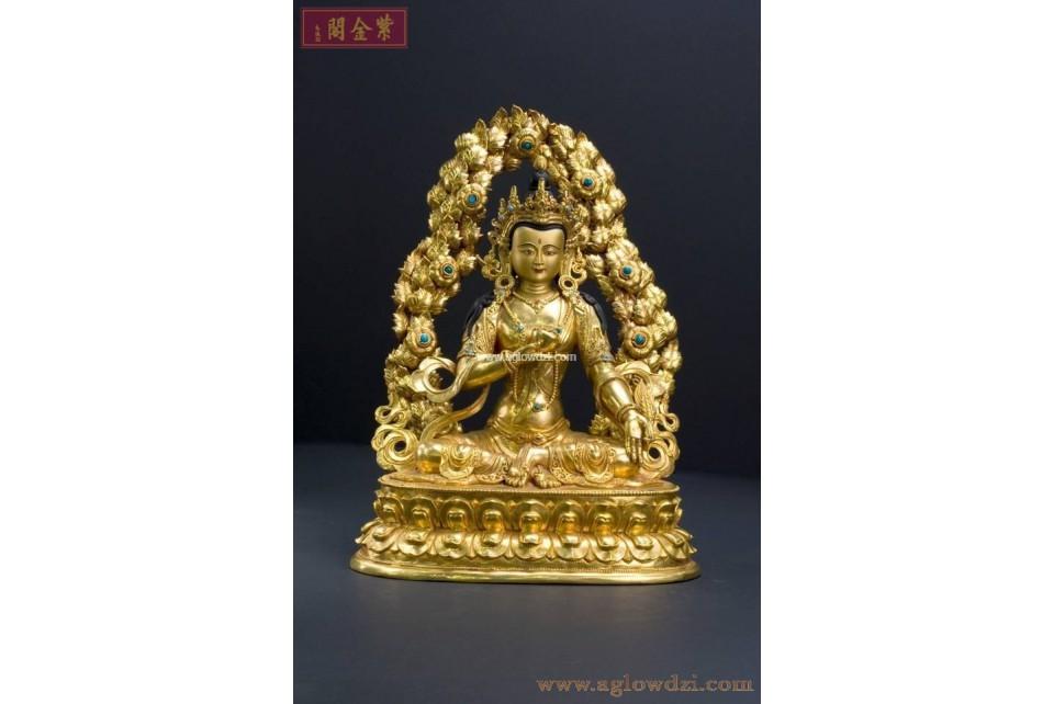 序號:303  地藏菩薩鎏金佛像