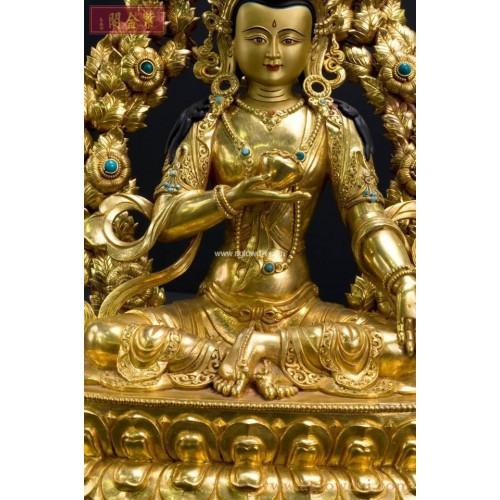 序號:1039  地藏菩薩鎏金佛像