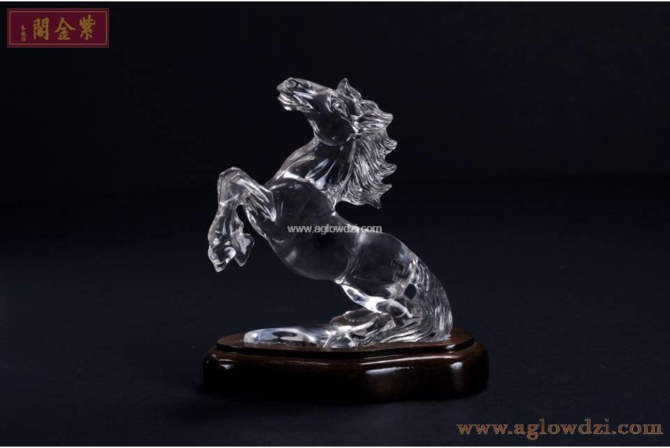 序號:348  全青白水晶馬