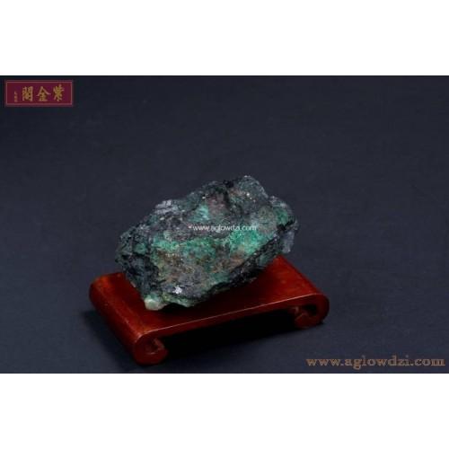 序號:320  鋁鍕礦、石英、孔雀石