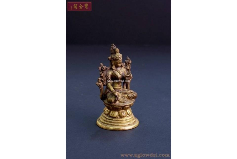 序號:322  十八世紀白度母佛像