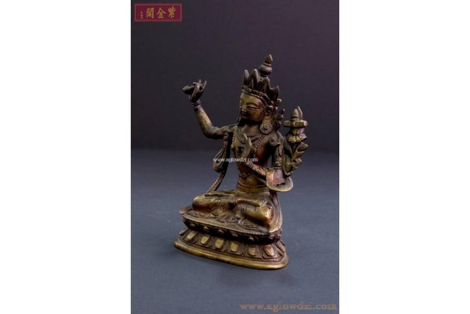 序號:321  十八世紀文殊師利菩隡佛像